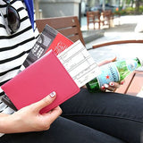 Women PU Leather Outdoor Boarding Must-have Passport Bag Clutches Bag Travel Bag