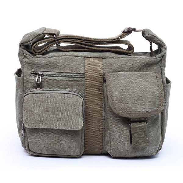 Men Canvas Retro Casual Crossbody Bag