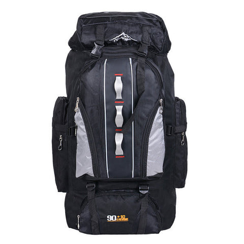 90L Capacity Waterproof Nylon Outdoor Mountaineering Bags Travel Sports Backpack For Men - shechoic.com