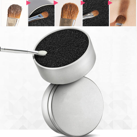 Makeup Sponge Cleansing Box Powder Brush Eyeshadow Blush Dry Remover Color Tool