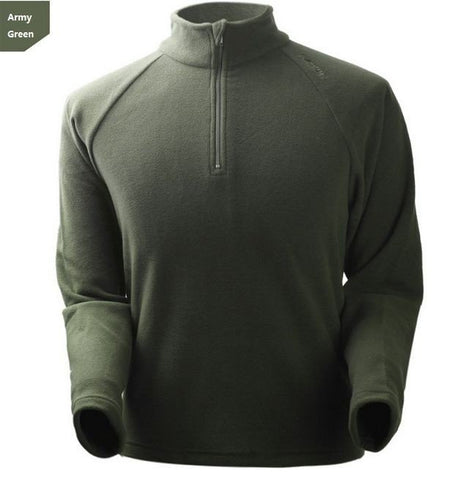 Men's Fall Winter Breathable Sweatshirt Lightweight Warm Fleece Casual Zipper Shirt