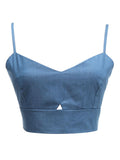 Women Strap Backless Denim Crop Top Sexy Vest