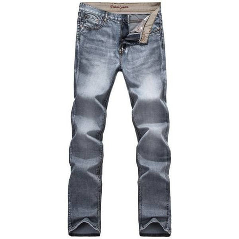 Men's Elastic Vintage Skinny Jeans Casual Retro Straight Slim Fit Denim Pants Trousers