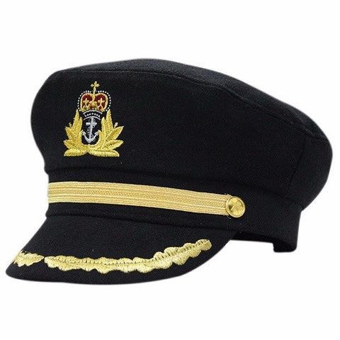Black Sailor Captain Officer Stag Night Nautical Fancy Dress Hat - shechoic.com