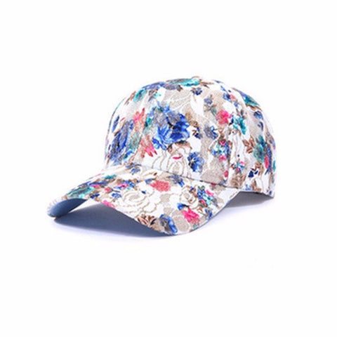 KINEED Women Casual Cotton Lace Floral Baseball Cap Outdoor Sun Hat