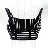 Women Sexy Spaghetti Strap Padded Bra Stretch Hollow Out Tank Tops Vest Bras
