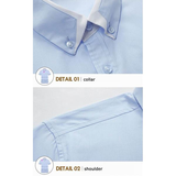 Mens Cotton Solid Color TurnDown Collar Short Sleeved Business Dress Shirts