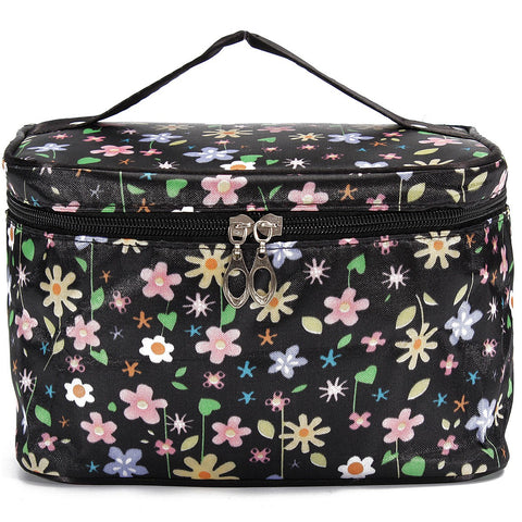 Flower Dot Travel Cosmetic Makeup Bag Toiletry Storage Case Container