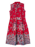 Vintage Women Chinese Totem Printing Sleeveless A-lin Dress