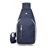 Men Nylon Casual Leisure Zipper Shoulder Bag Crossbody Bag