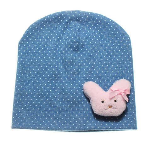 Cute Cotton Baby Bear Kids Girls Toddler Knitted Crochet Beanie Hat Cap