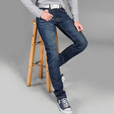 Mens Plus Size Denim Jeans Casual Straight Slim Cotton Trousers Pants