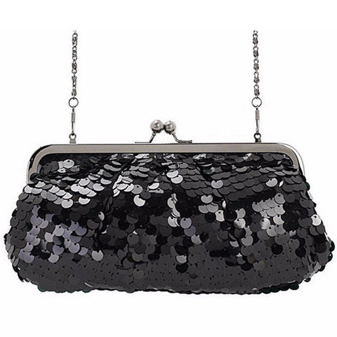 Sequin Breaded Dazzling Glitter Clutch Evening Bag