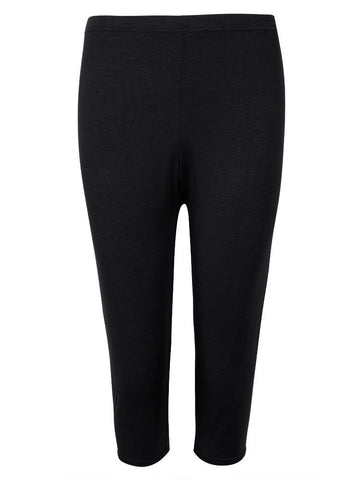 Plus Size High Elastic Modal Leggings Candy Color Cropped Trousers For Women