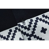 Spring Mens Geometric Patterns Patchwork Turndown Collar Business Casual Cotton T Shirts