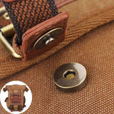 KAUKKO Men Vintage Canvas Waist Leg Bags Casual Outdoor Bags