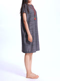Loose Solid Pleated Straight Summer Dress For Women