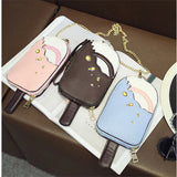 Lovely Cute Bags Ice Cream Cartoon Chain Shoulder Bags Crossbody Bags