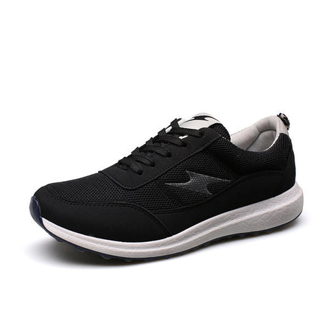 Men Flash Mesh Lace Up Breathable Casual Sport Running Sneakers