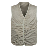Outdoor Muti-Pocket Fishing Rreversible Vest Casual Loose Cotton Waistcoats For Men