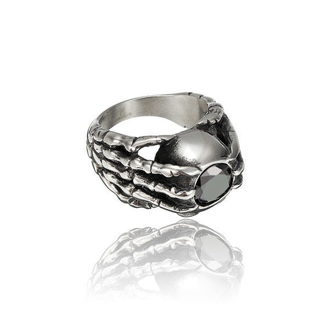 Black Stone Claw 361L Stainless Steel Ring
