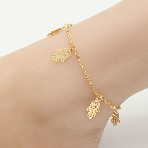 Alloy Rose Leaf Butterfly Dragonfly Anklet