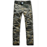 Outdoor Camouflage Cargo Pants Casual Loose Straight Long Trousers For Men