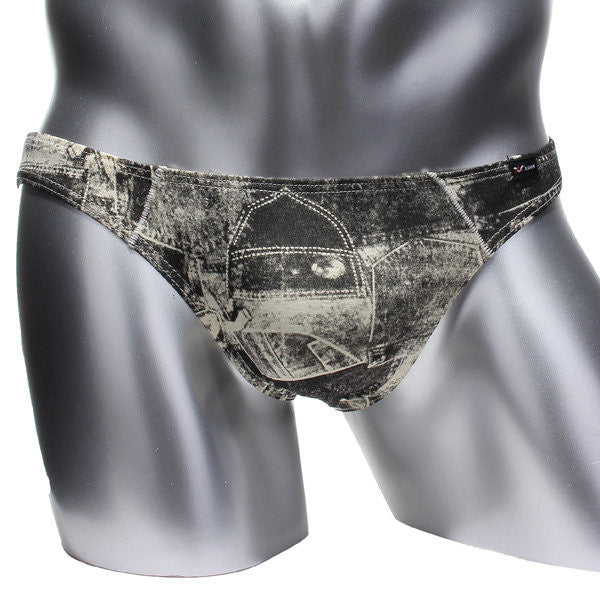Men's Sexy Retro Printing Underwears Breathable Cotton Briefs