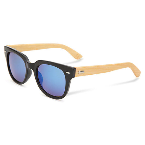 Men Women Bamboo Wooden Rivet Mercury Sunglasses Outdoor Sport Mirror Eyewear Glasses