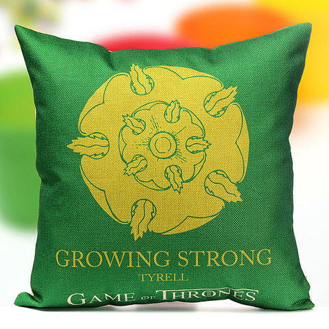 Thrones Games Pillow Case Throw Car Sofa Seat Cushion Cover Home Decor