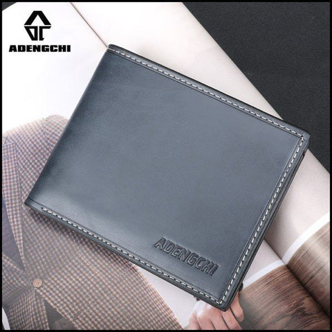 ADENGCHI Men Leather Business Retro Wallet Causal Card Holder - shechoic.com