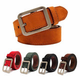 Men Women Casual Leather Belts Waistband Pin Buckle Belt Waist Strap