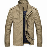 Men's Spring Lightweight Waterproof Windproof Stand Collar Casual Jacket