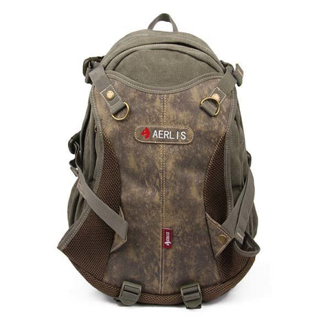 AERLIS Men Canvas Casual Outdoor Big Travel Hiking Shoulders Bag Backpack - shechoic.com