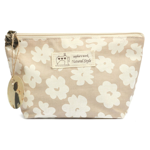 Pastoral Floral Linen Cosmetic Bag Toiletry Travel Case