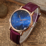 Leather Alloy Star Moon Series Watch
