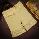 Sexy Embroidery Lace Seamless Breathable Boyshorts Mid Waist Boyshorts For Women