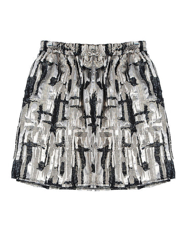 Printed High Waist Casual Skirt