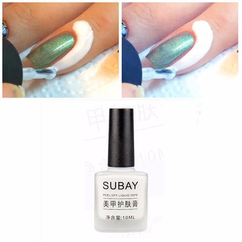 10ml White Peel Off Liquid Latex Tape Anti Overflow Glue Easy Clean Base Top Nail Gel