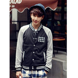 Men's Casual Baseball Uniform Number Printing Leisure Baseball Jacket