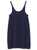 Women Strap Polka Dots Printed Chiffon Mini Dress