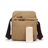 Men Canvas Casual Shoulder Bags Crossbody Bag Messenger Bags
