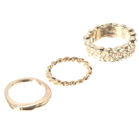 3Pcs Punk Stack Knuckle Finger Rings