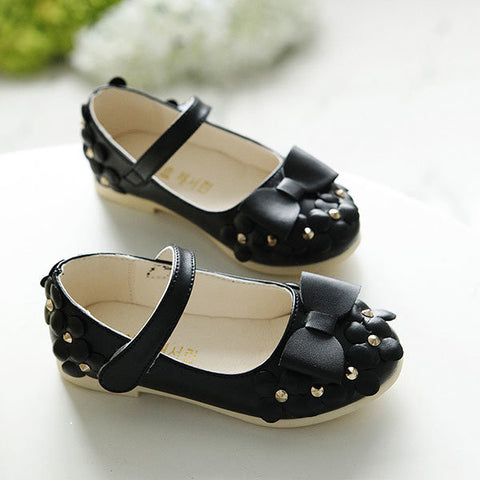 Children Beauty Princess Sandals Girls Soft Leather Casual Flowers Dance Shoes