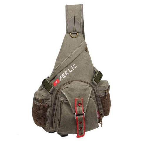 AERLIS Men Canvas Casual Travel Sport Chest Bag - shechoic.com