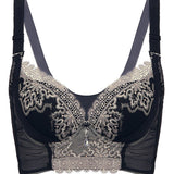 Women Sexy Embroidered Deep V Bras Breathable Push Up Bras