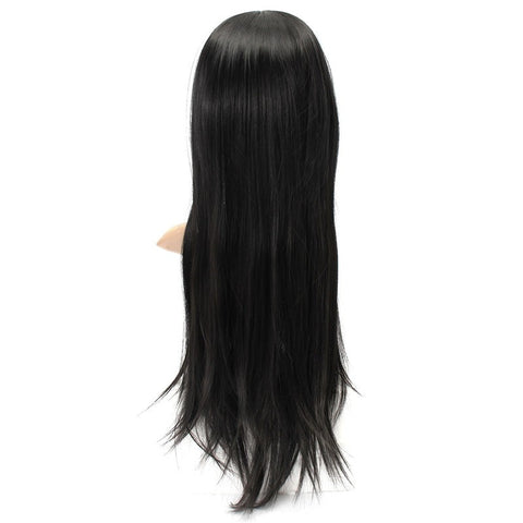 Fluffy Straight Wig High-Temperature Fiber Natural Long Hair Full Wigs Party 3 Colors