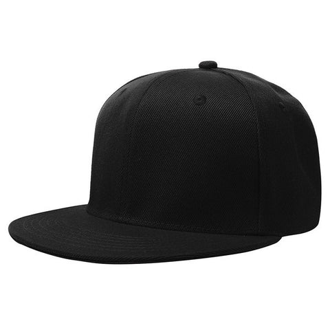 58cm Men Women Plain Fitted Cap Solid Flat Blank Color Baseball Hat - shechoic.com