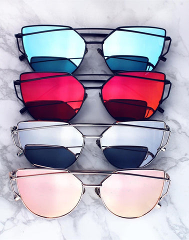 The 2016 New South Korean Hollow Colored Film Sunglasses