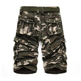 Mens Outdoor Cargo Loose Camo Shorts Large Multi Pockets Cotton Short Pants